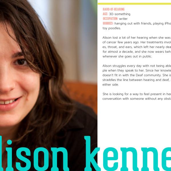persona: Alison Kennedy