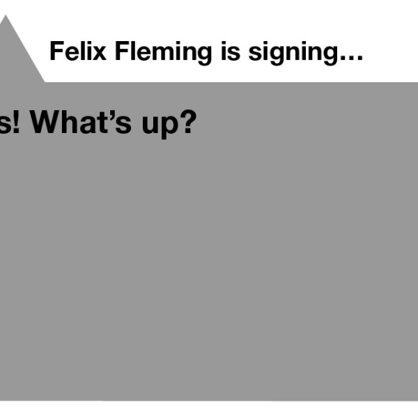 Felix starts to sign, and the translated English text appears on his phone.